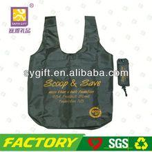 Eco silk print polyester folding shopping bag