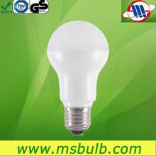 a60 e27 aluminum inside plastic global bulb e27 7w 500lumen lamp led led lights manufacturing company