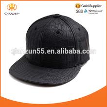 Wholesale Men's Crocodile Faux Leather SNAPBACK Strapback Hat Cap flat brim hat cap