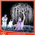 china fabrico de azul e prata decorações de casamento