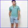 2015 plain chic design collar 100% polo t-shirt factory making man polo t-shirt
