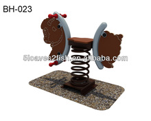 LOAFI 2014 HOT SALE follow horse/ spring rocking horse with double- piece kid's play equipment