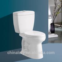 New design western toilet ceramic bathroom toilet sanitary ware siphonic two piece toilet