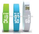 HC-DZ010 2014 Hot sale Promotional Silicone Led Watch Custom usb Flash Drive Wholesale