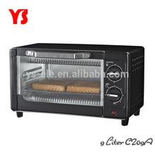 800W 2 slice 9L home use mini bread toaster oven