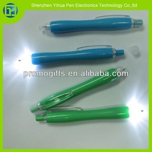 2014 Corporate gift multi-color light pen,ballpen+light pen for promotional items