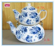 2015 New Decal Flower Unique Decorative induction cooker Kettle, Porcelain arabic water jug sets, 2pcs chinese tea pot sets