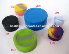 Custom FDA approved food grade 3ml-28ml non-stick slick oil silicone wax dab container silicone containers small
