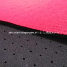 polyester fabric + neoprene sponge rubber perforated
