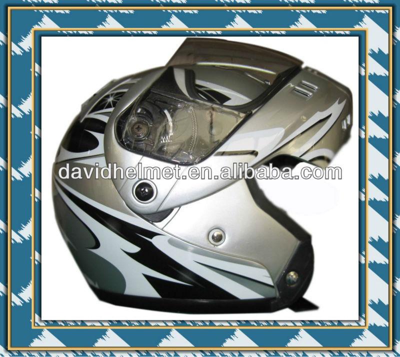 DOT APPROVED FLIP UP HELMET FOR MOTORCYCLIST