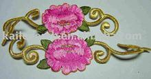 fancy cotton plain embroidery flower patch for fashion garment