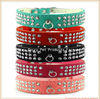 Bling Diamond Suede Leather Dog Pet Cat collars For small Dogs