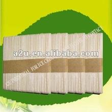 Round /stright edge 93/114mm birch wood ice cream sticks