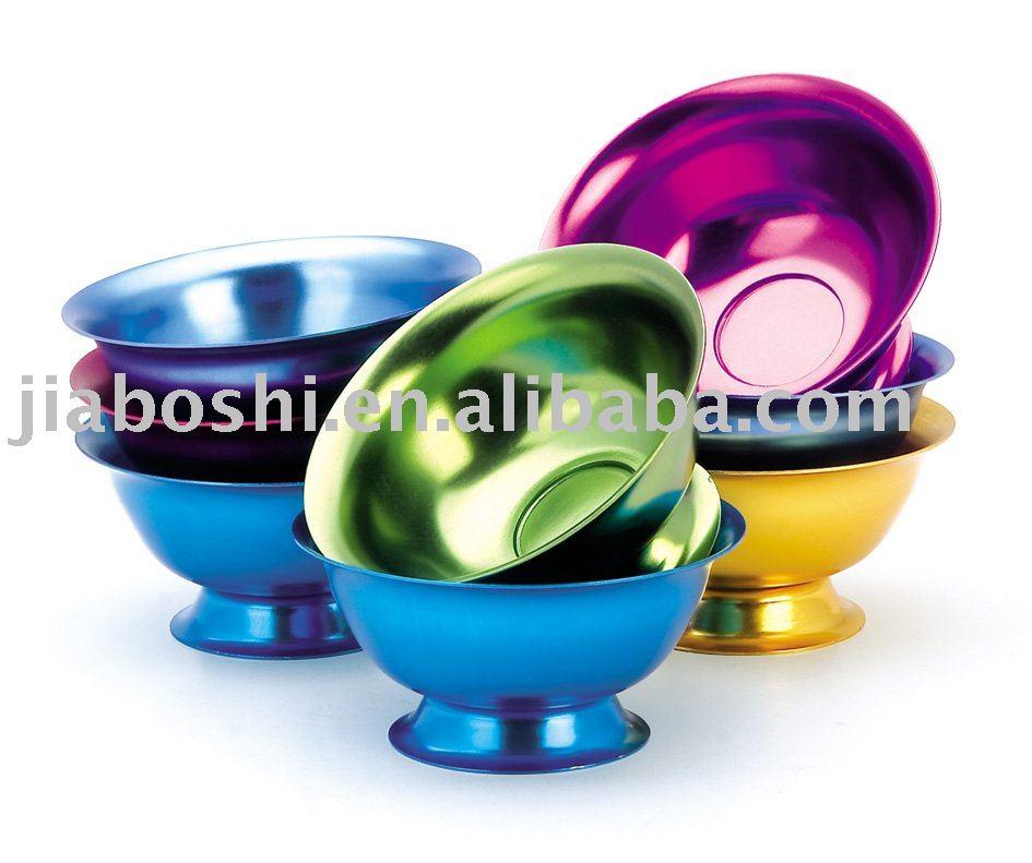 Colorful Ice Cream Bowls Color Aluminum Mini Ice Cream