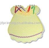 Cute colored princess dress shape spiral notebook paper