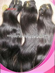 Sunnymay Hot sale natural color natural wave 100% Malaysian virgin human hair weft