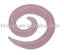 40x10mm exotic natura carving rose quartz stone craft