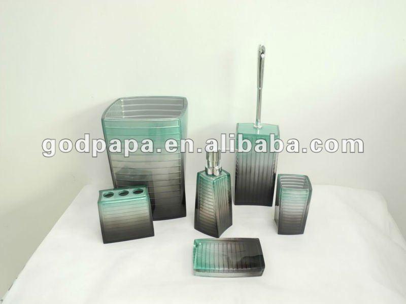 Resina de poliéster utensílios de banho acessórios do banheiro da resina