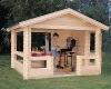 Garden BBQ wooden house