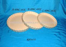 Microwave Stand Round Ceramics Bakeware