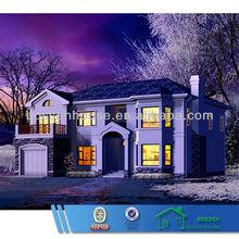 BV verified light gauge steel structure prefab villa