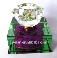 arabian style purple rectangle 30ml collectable art crystal perfume bottle