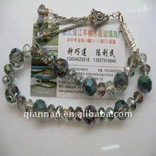 newly glass islamic rosary beads tasbeeh necklace