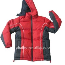 Child boy warm Pongee dobby with polar fleece coat for 2012