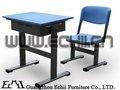 & económico duradero de la escuela de metal silla de escritorio