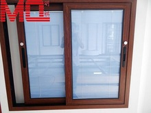 cheap house aluminum window with built-in blinds