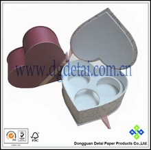 Heart shape paper gift box with inner tray