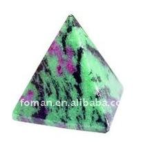 60x45mm ruby fuchsite semi-precious stone pyramid