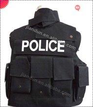 NIJ IIIA(9mm FMJ) soft kevlar bullet proof vest for police protect front,back,two sides,neck