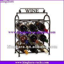 KingKara KAWR0124 Metal Wine Holder Display Rack