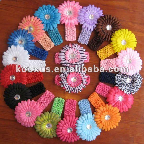 1.5inç tığ bandı Papatya çiçeğiile çok renk mevcuttur