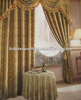 window polyester Yarn dyed jacquard curtain fabric with beatiful pattern