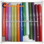 Colorful sheer organza fabric rolls