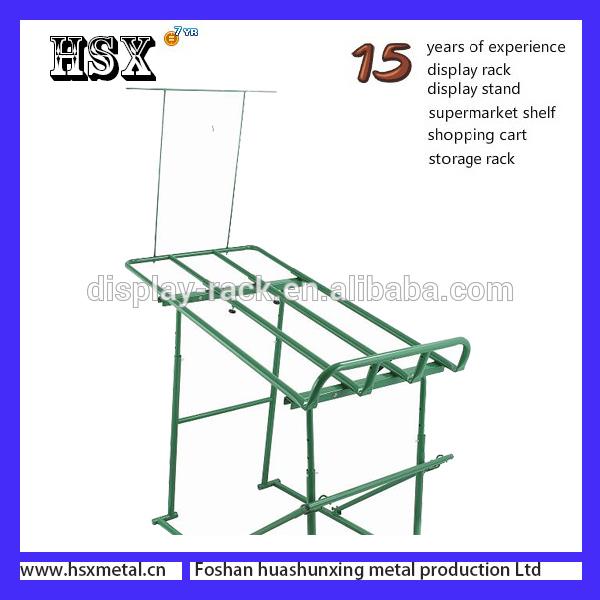 supermarket double layers vegetable fruit metal display rack HSX-187