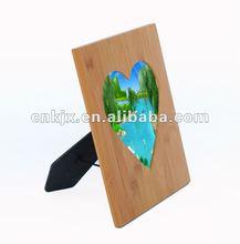 Bamboo love heart photo frame