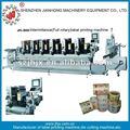 Six couleurs jh-300 intermittent rotatif machine d'impression d'étiquettes typographique autocollant