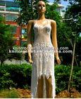 Ladies Lace Hand Crochet Wedding Dress Skirt, Crochet Party Elegance Beach Dress, Vintage Crochet Evening Dress