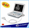 Full digital portátil/caderno b scanner de ultra-som veterinário para