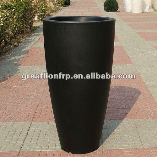 Grande taille noir de haut en plastique jardin pot de for Pot exterieur grande taille