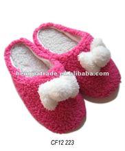Ladies indoor soft fleece slipper
