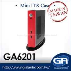 GA6201 fanless htpc Slim ITX Case for Mini PC computer