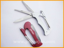 K-7097 fashion multi functional climbing carabiner with LED