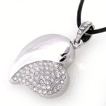Hot Sale Free Sample white heart shape usb flash drive for Promotional Gift