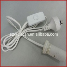 VDE CE UL approval e27 lamp hold with wire