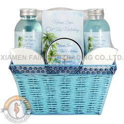 Ocean breeze fragrance spa gift set in basket