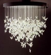 Round and white modern chandelier lighting